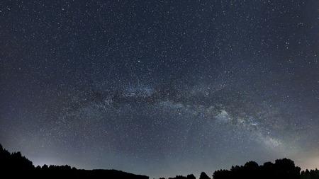 nature background: Milky Way galaxy beautiful night sky