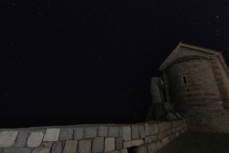 starry night: Fortress Tower starry night