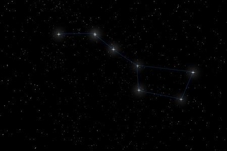 Big Dipper Constellation, Ursa Major, The Great Bear Archivio Fotografico
