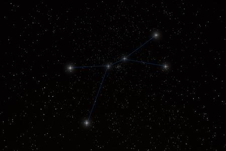 constelacion: de la constelaci�n Foto de archivo
