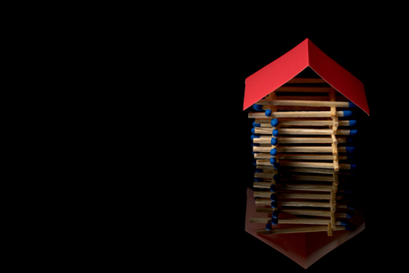 sabotage: Fire insurance. Wooden house insurance. Safe house.