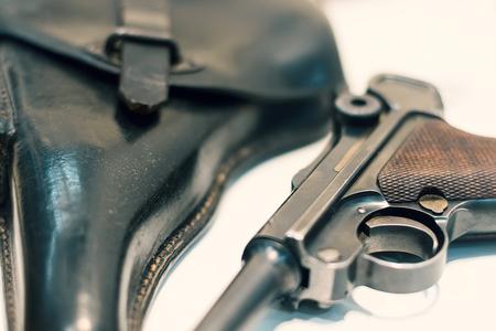 luger: Luger P08 Parabellum handgun.