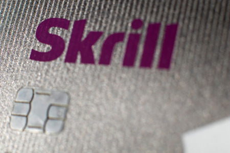 transfers: New York, USA. November 23 2016. Skrill Card. Skrill card (formerly Moneybookers) allows payments and money transfers to be made through the Internet. Editorial