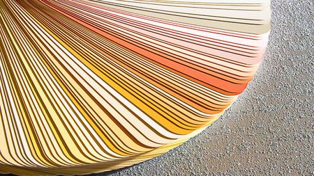 Sample Colors Catalog. Color Palette Guide Stock Photo