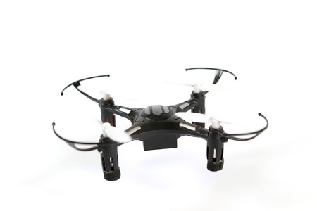 remote controlled: Toy Drone quadrocopter. Remote controlled quadcopter drone.