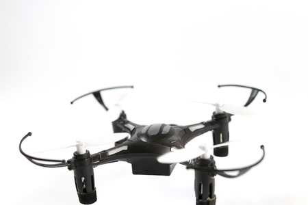 remote controlled: Remote controlled quadcopter drone. Toy Drone quadrocopter. Stock Photo