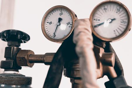 regulator: Regulator of pressure for gas welding. The device for measurement of pressure of oxygen in cylinders