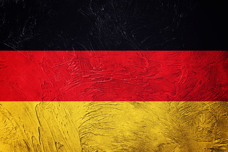 Grunge Germany flag. German flag with grunge texture.
