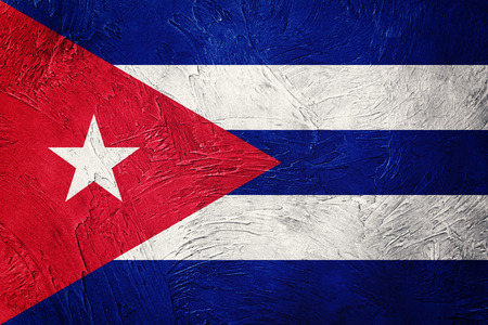 Grunge Cuba flag. Cuban flag with grunge texture.