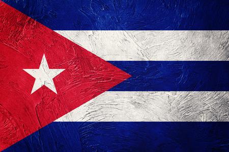 Grunge Kuba Flagge. Kubanische Flagge mit Schmutzbeschaffenheit.