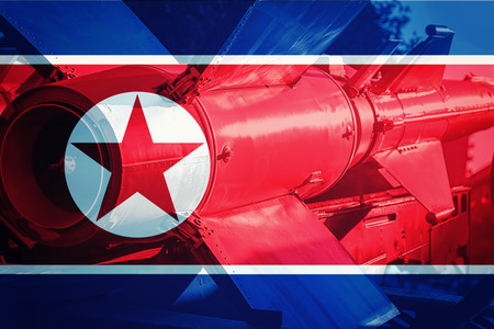 North Korean ICBM missile. Nuclear bomb, Nuclear test.
