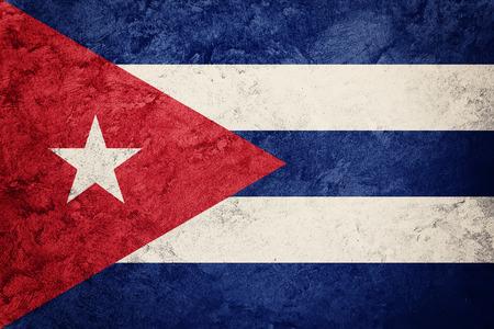 Grunge Cuba flag. Cuban flag with grunge texture. Standard-Bild