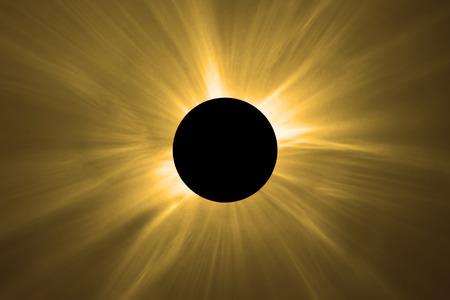 Total Solar Eclipse. Standard-Bild