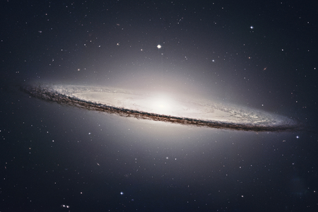 Sombrero Galaxy M104  in constellation Virgo. Elements of this image are furnished by NASA. Editorial