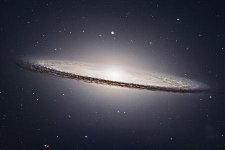 Sombrero Galaxy M104 in sterrenbeeld Maagd. Elementen van deze afbeelding zijn ingericht door NASA. Stockfoto - 82963675