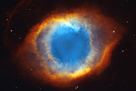 The Helix Nebula or NGC 7293 in the constellation Aquarius.  Elements of this image are furnished by NASA. 新聞圖片