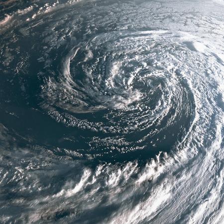 地球上のハリケーンは、宇宙から見た。地球上の台風。 このイメージの要素は、NASA に用意されています。 写真素材