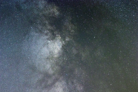 Close up of Milky way galaxy Long exposure.
