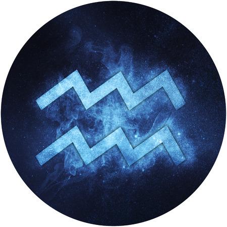 Aquarius Zodiac Sign Isolated on white background