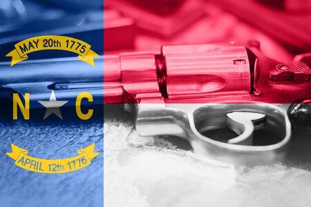 North Carolina flag (U.S. state) Gun Control USA. United States Gun Laws.