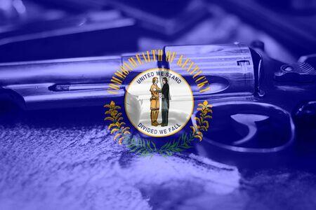 Kentucky flag (U.S. state) Gun Control USA. United States Gun Laws.
