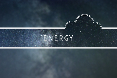 ENERGY word cloud Concept. Space background.