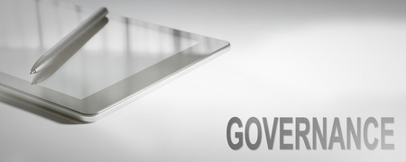 GOVERNANCE Business Concept Digital Technology. Graphic Concept. Stok Fotoğraf - 91604736