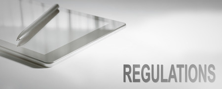 REGULATIONS Business Concept Digital Technology. Graphic Concept.