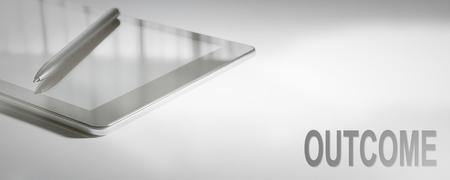 OUTCOME Business Concept Digital Technology. Graphic Concept. Banco de Imagens