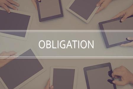 OBLIGATION CONCEPT Business Concept. Stock Photo