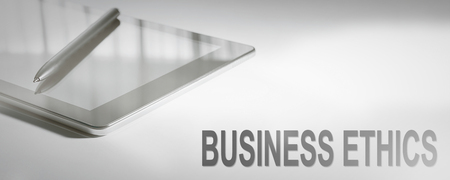 BUSINESS ETHICS Business Concept Digital Technology. Graphic Concept.