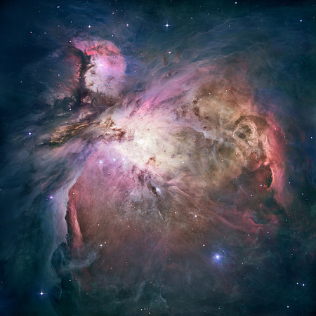 Great Nebula in Orion, Messier 42.   Retouched image.