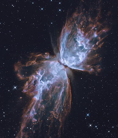 The Butterfly Nebula.  Retouched image.