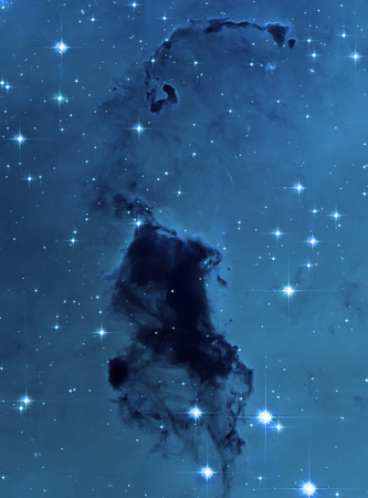 Dust clouds in the Milky Way Background.
