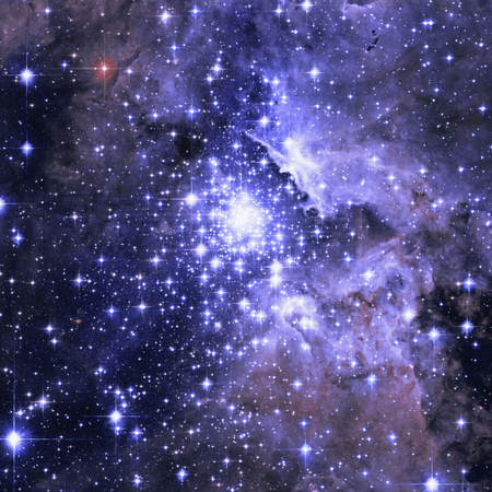 Star cluster. Star forming region NGC 3603.  Retouched image. Stock Photo