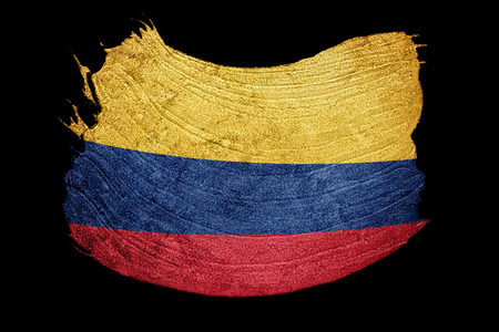 grunge colombia flag colombian flag with grunge texture brush