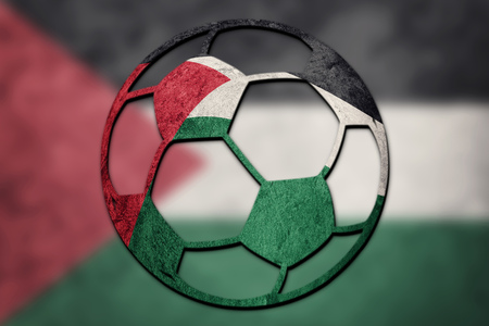 Soccer ball national Palestine Flag. Palestine football ball.