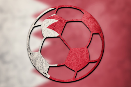 Soccer ball national Bahrain flag. Bahrain football ball. Zdjęcie Seryjne