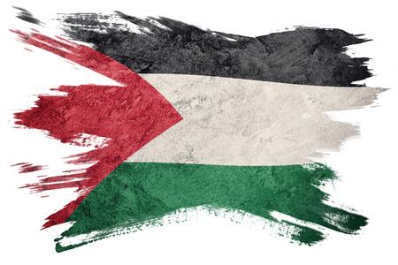 Grunge Palestine Flag. Palestine Flag with grunge texture. Brush stroke.