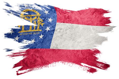 Grunge Georgia state flag. Georgia flag brush stroke. Stock Photo - 103737479