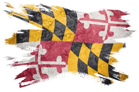 Grunge Maryland state flag. Maryland flag brush stroke.