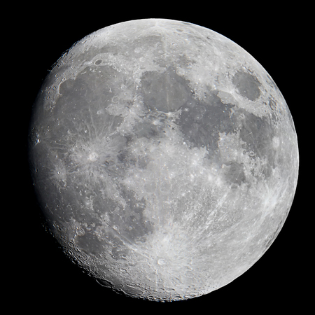 Half Moon Background, Gibbous moon Earths natural satellite. Banco de Imagens