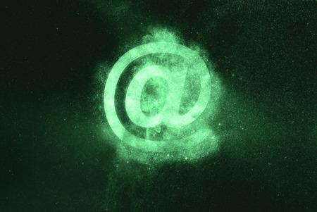 e-mail sign. E-mail symbol. Green symbol Stock Photo