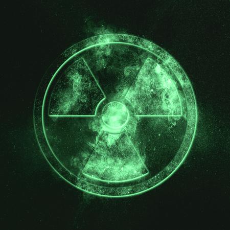 Radiation sign, Radiation symbol Green symbol