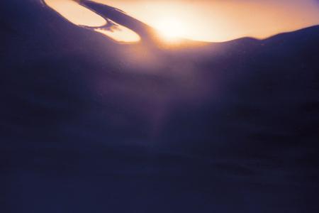 Underwater Sunset water surface Standard-Bild