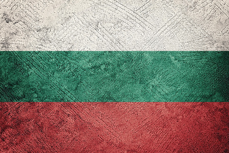 Grunge Bulgaria flag. Bulgarian flag with grunge texture.