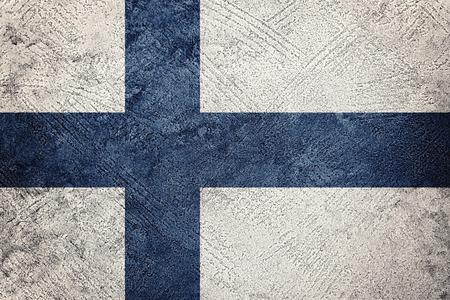 Grunge Finland flag. Finland flag with grunge texture.