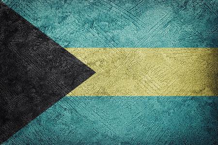 Grunge Bahamas flag. Bahamas flag with grunge texture. Stock Photo