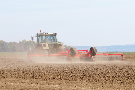 Tractor preparing field, Agriculture tractor