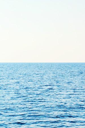 Mer bleue et ciel clair. Mer des Caraïbes.